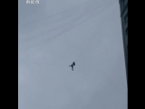 Man stuck mid-air after trying to skip hotel bill using telecom wires between two buildings