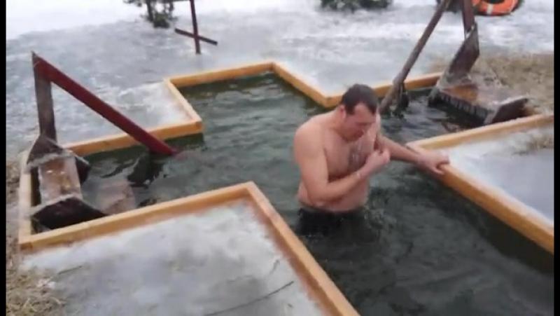 Крещение д.Косичи 19.01.2017г. 17:30