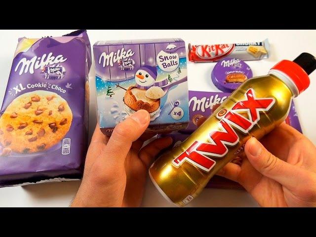 Напиток TWIX, Milka ЯЙЦА и Другие Сладости.