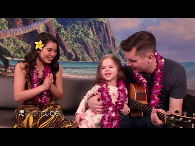 SWEET Father Daughter Duo Moana Star Aulii Cravalho Sing How Far Ill Go!