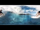 Серфинг на Таити 360