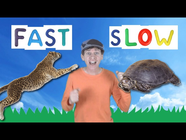 Fast Slow Action Song for Kids Learning Opposites Learn English Children