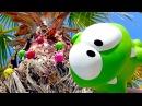 АМ НЯМ новые серии. Видео для детей с игрушками АМ НЯМ и 🍬 конфетки 🍬 на пальме!...