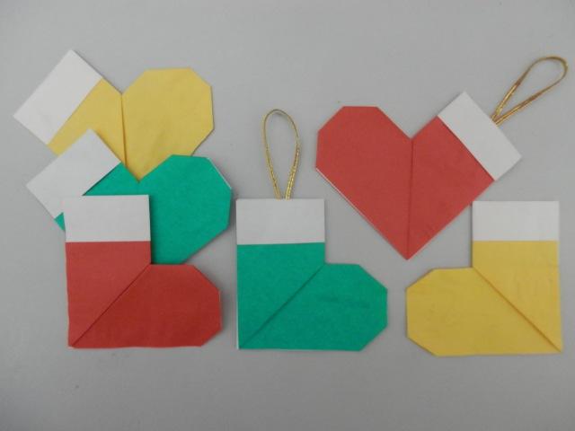 Botinha do papai noel - Origami - Passo a passo