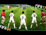 CRISTIANO RONALDO free kicks evolution - FIFA 04 to FIFA 17