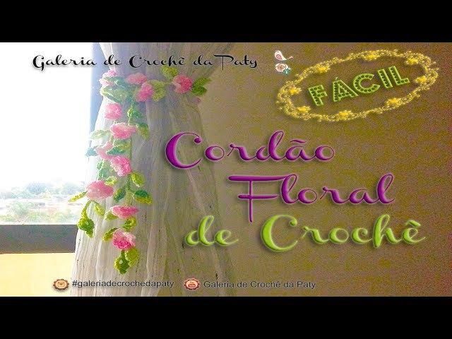 Cordão Floral de Crochê Fácil , かぎ針編みの花のレース , Crochet floral lace