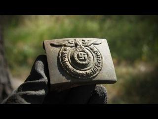 Waffen-SS Battlefield Relic Hunting on the Eastern Front - WWII German helmets (HD)