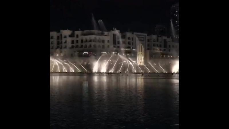 DUBAI MALL поющие фонтаны ❤