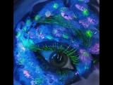 neon makeup by Anna Dernejko