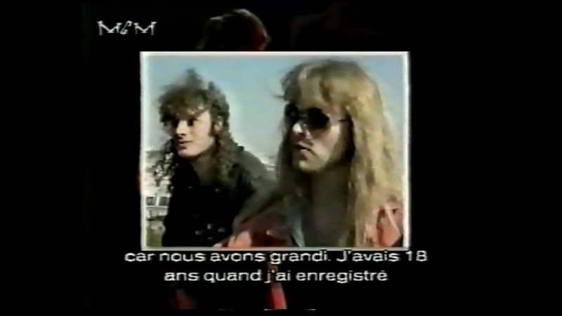 Helloween (Michael Kiske) - MCM French TV Interview Live 1992