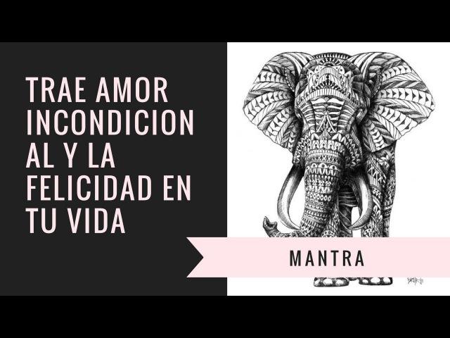 MANTRA TRAE AMOR INCONDICIONAL Y LA FELICIDAD EN TU VIDA
