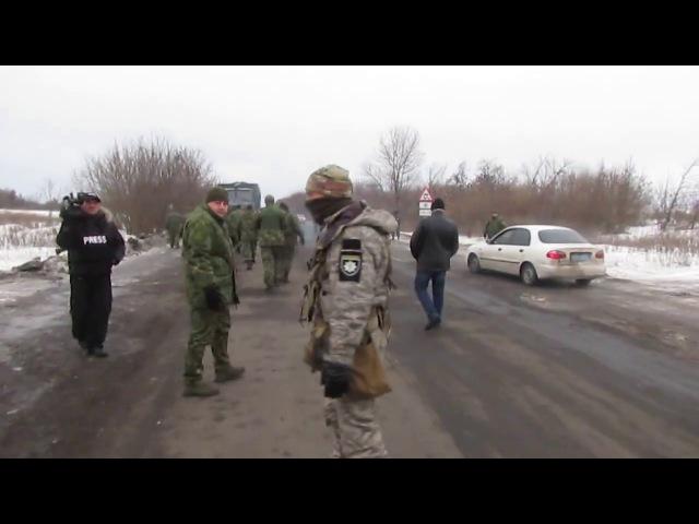 Спецназ и сбу заблокировали авто нардепа Семенченко в Бахмуте