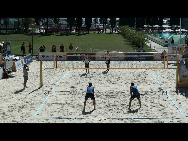 Beach volley Russia Sochi 2017 M 18 Stoyanovskiy-Yarzutkin and Bogatov-Dyanov