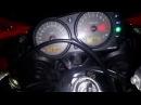 Kawasaki ninja zx9r engine start exhaust sound, старт, прогрів