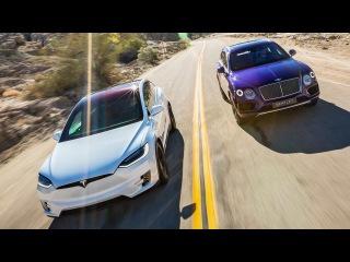 2017 Bentley Bentayga vs. 2016 Tesla Model X P90D Ludicrous - Head 2 Head Ep. 76