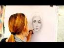 Нарисовать портрет углем