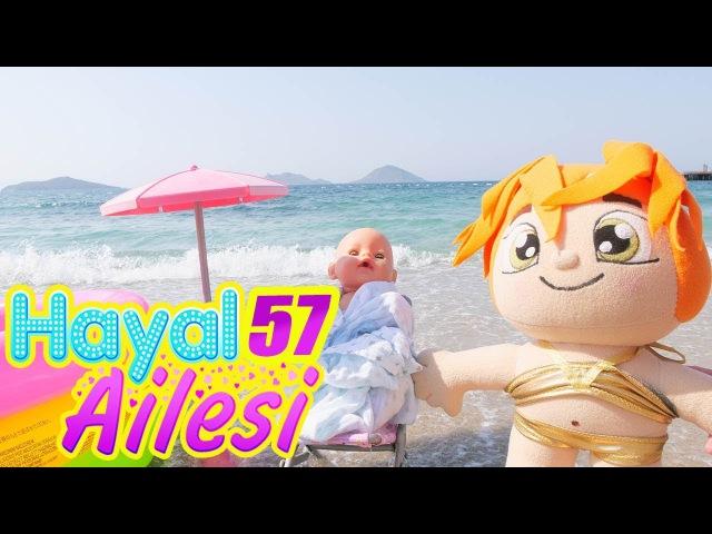 Hayal Ailesi plaja gidiyor 🌊⛱️👙 Sahilde bebek bakma oyunları oynuyoruz. Çocuk dizisi Türkçe