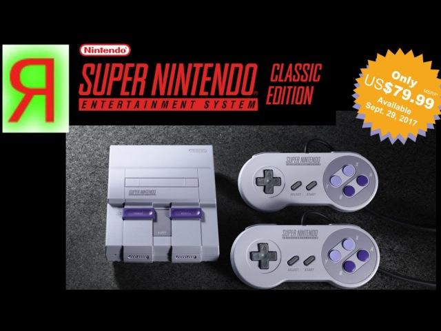 Новая Нинтендо New Super Nintendo Entertainment Sustem SNES Classic Edition Mini