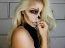 Halloween Easy Skull Make up   Vanessa Herold
