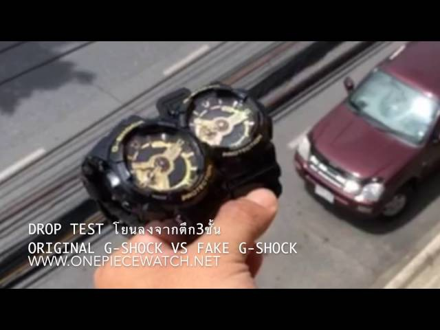 ORIGINAL G-SHOCK GA-110 VS FAKE G-SHOCK Drop test and Frozen TEST