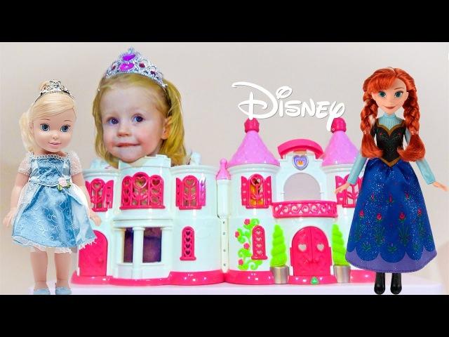 Барби и ПРИНЦЕССЫ ДИСНЕЯ история куклы Игры для девочек ПРИНЦЕССА дисней ИГРУШКИ castle princess
