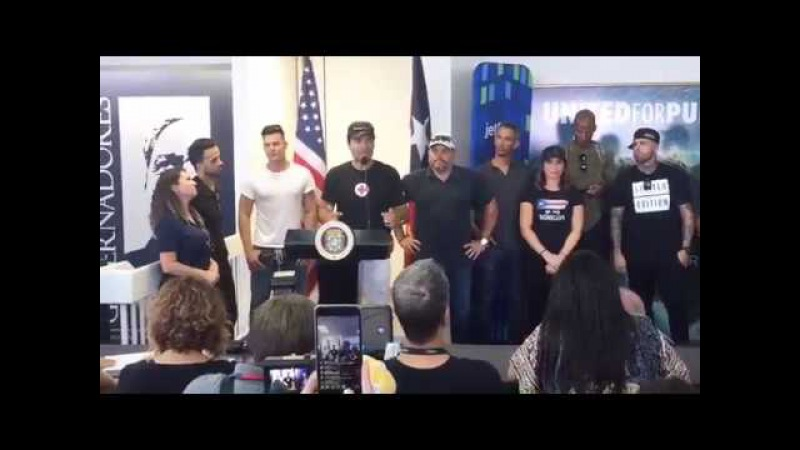 Ricky Martin, Luis Fonsi,Nicky Jam, Chayanne, Gloria Estefan coletiva de imprensa em Puerto Rico.