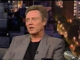 CHRISTOPHER WALKEN HAS FUN WITH LETTERMAN