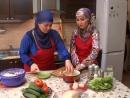 Кавказская кухня чеченское блюдо Жижиг Галнаш галушки. Семейный ужин. вкусный рецепт
