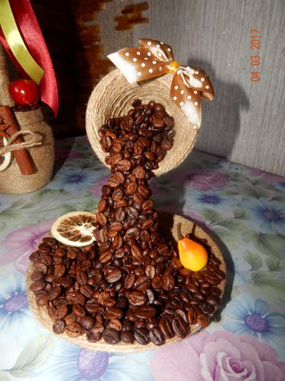 Изделия из зёрен кофе своими руками