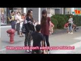 Girlfriend humiliates boy in public