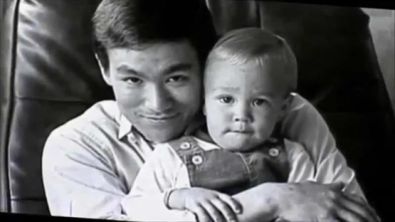 Брюс Ли с сыном Брэндоном (дань памяти Великому Мастеру)