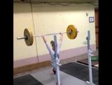 Наталья Лапина толкает 57,5 кг