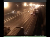 МКАД 35 км 02.10.2017 ВИДЕО: мотоциклист и пешеход погибли в ДТП на МКАД