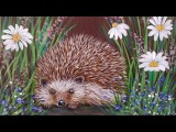 How to Paint a Hedgehog in Wildflowers LIVE Acrylic Painting Tutorial for Beginners