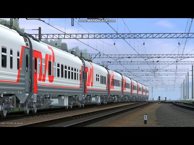 ЭП2К-032 с поездом №106 Москва-Ярославль