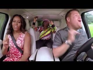 Michelle Obama singing _ ( Get Ur Freak On ) _Missy Elliott and carpool karaoke