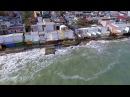 Последствия оползня г Черноморск Ильичевск ул Морская и пляж Радужный пр 114 октябрь 2016