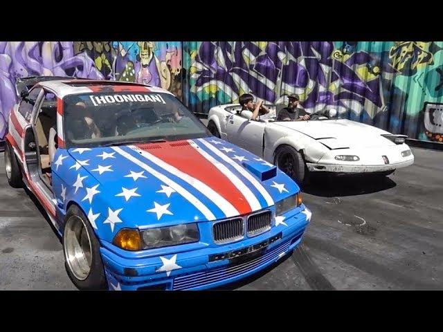 [HOONIGAN] DT 115: Tandem Sh*tcar Figure Eight's ($350 BMW E36 vs $200 Mazda Miata)