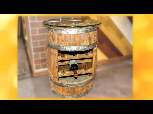 Мини Бар из старой бочки Bar barrel Мастер класс