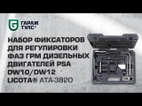Набор фиксаторов для регулировки фаз ГРМ дизельных двигателей PSA DW10/DW12