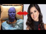 Indo Canadian Film TV Actress Sunny Leone Pretty Face Prosthetic Like a Egyptian Mummy