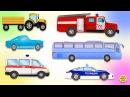 Мультфильм про машинки полицейская, пожарная, скорая помощь! Развивающий мульт ...
