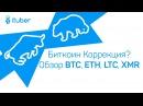 Биткоин Пошел на Коррекцию Обзор BitCoin BTC, LiteCoin LTC, Ethereum ETH, Monero XMR