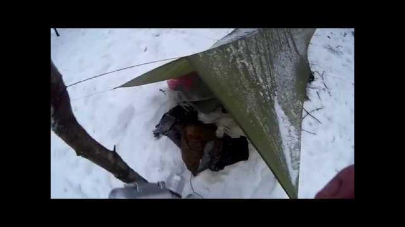 Как просто переночевать в мороз в тепле ч.1.Тепловой аккумулятор и спальник-корыто