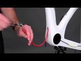Монтаж электропроводки оборудования Shimano Di2 в раме LOOK 795 AEROLIGHT