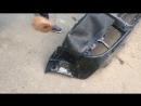 Попытка сломать бампер кувалдой после ремонта