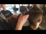 Chopping down hair using the Oster Classic 76