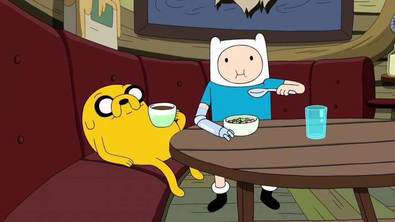 Финн и Джейк кушают