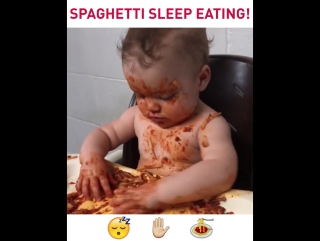 Spagetti Sleep Eating