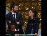 Джим Стёрджесс и Шарлотта Райли на церемонии вручения BAFTA 2017